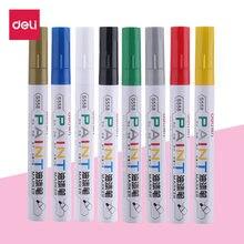 Deli 1 шт Перманентный маркер белые маркеры с масляными чернилами