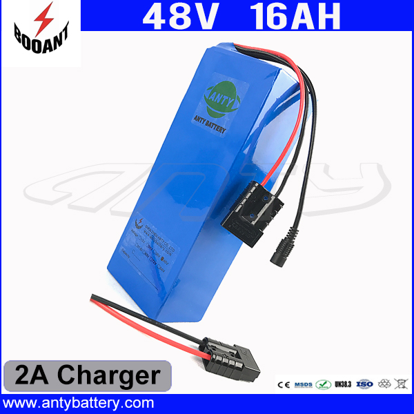 13S 48V 16Ah eBike Battery For 8Fun Bafang 1000W Motor Li-ion Battery 48V With 2A Charger 30A BMS 18650 Cell Free Shipping free customs taxes and shipping rechargeable lithium ion battery 48v 15ah li ion ebike battery for 48v 750w bafang 8fun motor