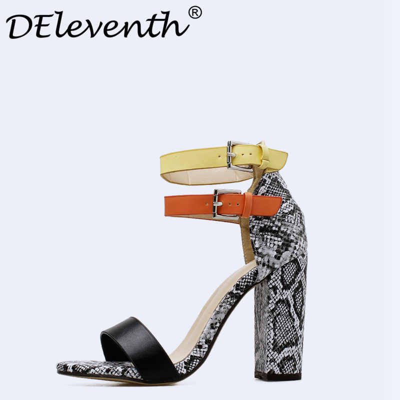Fashion Summer Shoes Gladiator Women Sandals Casual Buckle Strap Peep Toe  Thick Heels 10cm Female Gladiator d1516ba30f14
