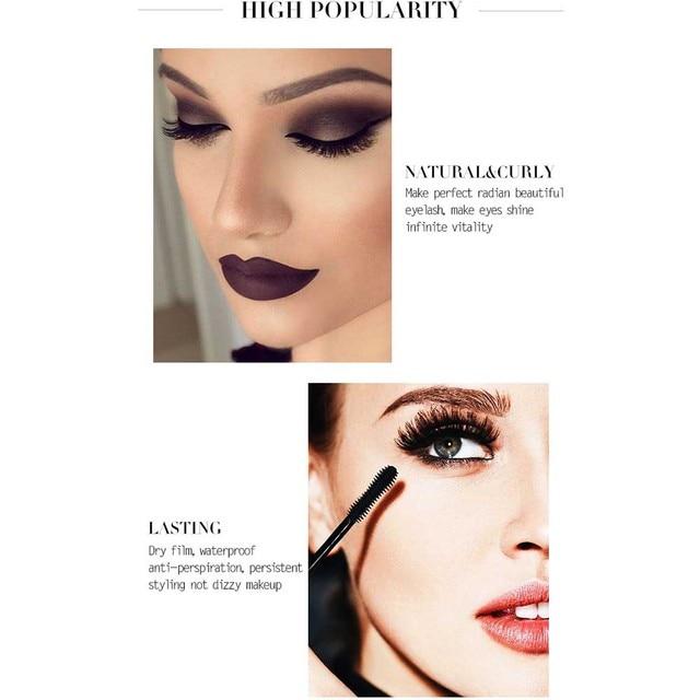 FRESHME Fiber Lash Mascara For Eyelashes Extension Black Thick Length Long Curling 4d Eye Lashes Mascara Rimel Makeup Cosmetic 3