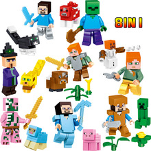 Minecrafted Building Bricks Blocks Compatible LegoINGLYS  Role Zombie Mini Action Figures Set Bricks Fun Toys For Children gifts
