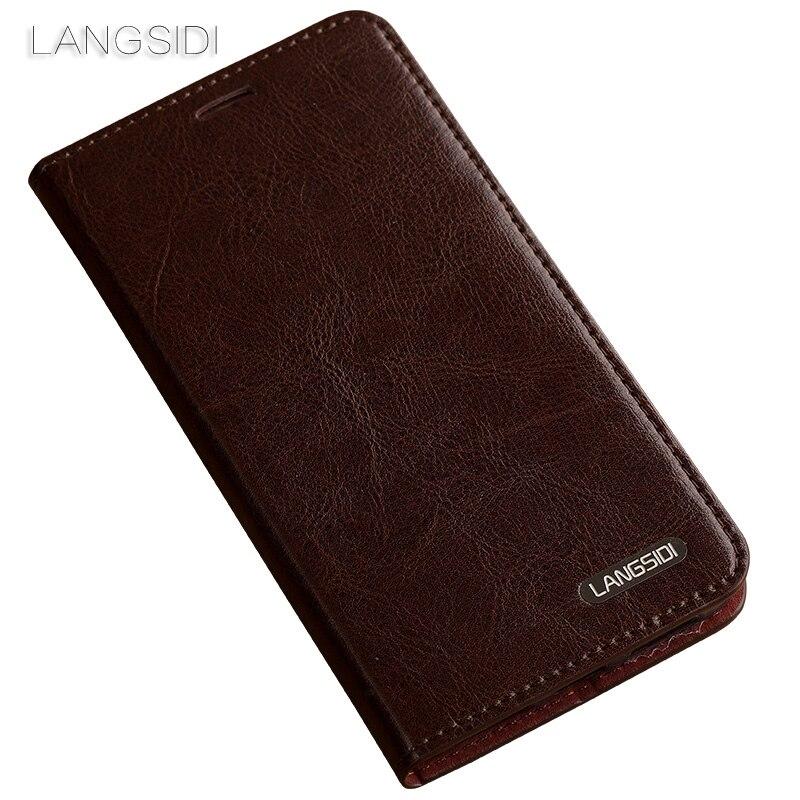 Wangcangli pour Redmi Note4X coque de téléphone huile cire peau portefeuille flip Stand titulaire fentes pour cartes étui en cuir pour envoyer un film de verre de téléphone - 4