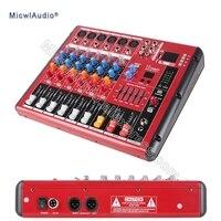 6 канала консоли цифровой микшер для DJ Запись студии Stage Запись 16DSP Bluetooth микрофон смешивания с USB