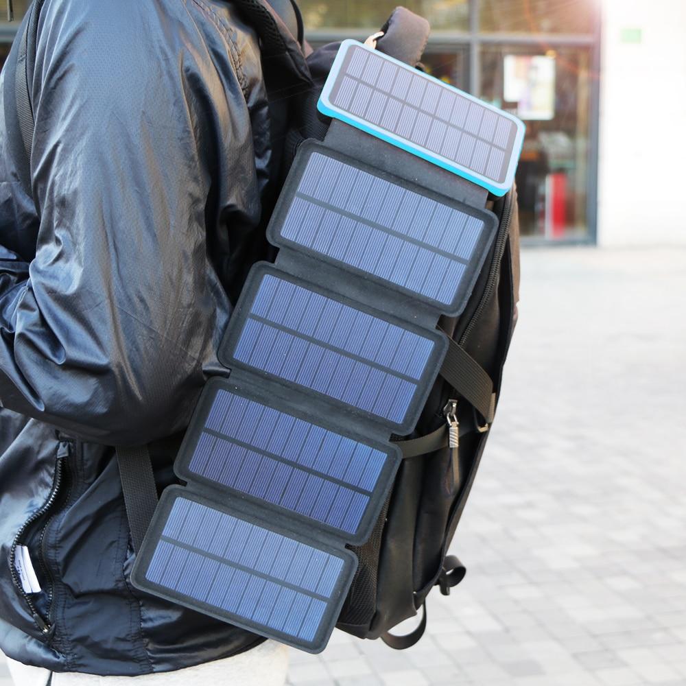 20000mAh Solar Power Bank Real...