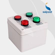 Push Button Switch Box With Signal Light /Button Control Station Switch Box/Waterproof Box 125*125*100mm