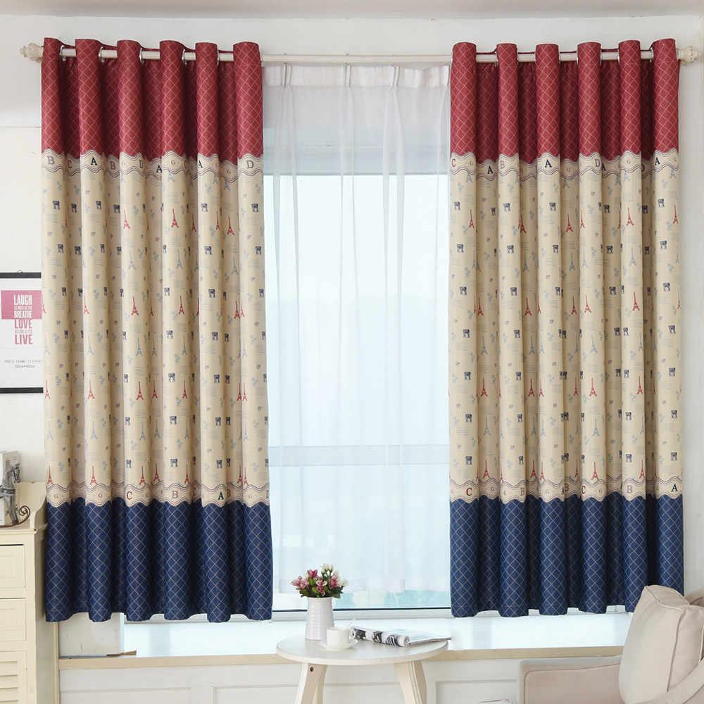 Ouneed Retro European Style Home Curtains Door Window Curtain