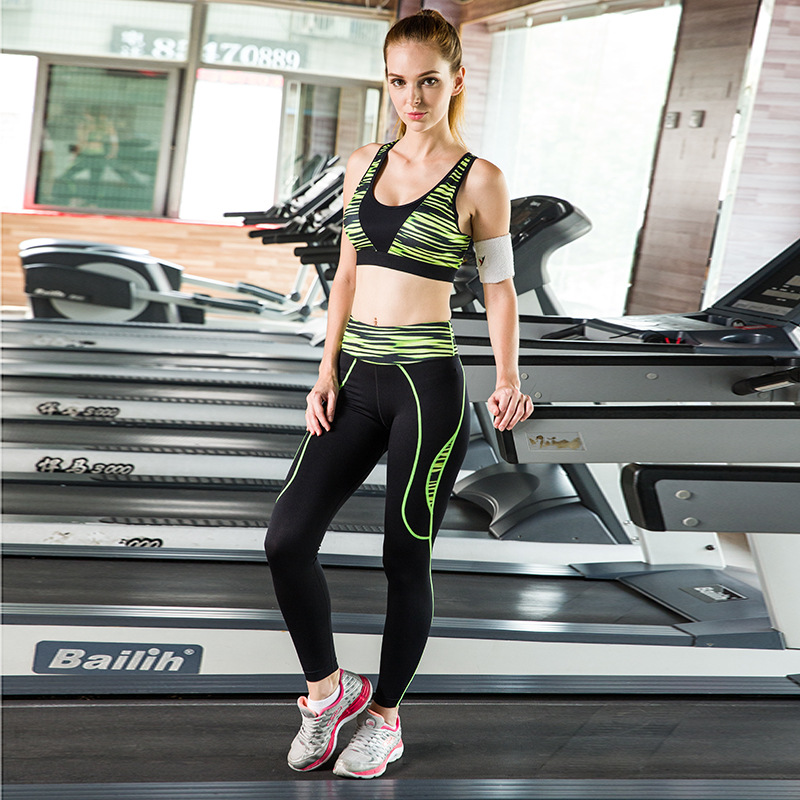 Calofe Sport Suit Women Yoga Set For Gym Running Suit Elasticity Fitness Clothing Workout Wear Sports Bra + Leggings New