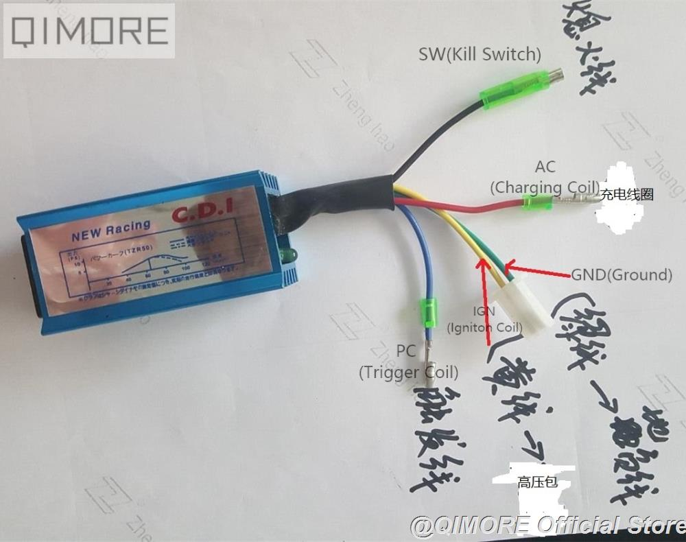 Performance CDI unit (5 wires, AC fired) for Scooter Moped JOG50 JOG90  Vento ZIP Keeway Hurricane 1E40QMB Minarelli 50cc|limit switch|limited  batterylimited two - AliExpresswww.aliexpress.com