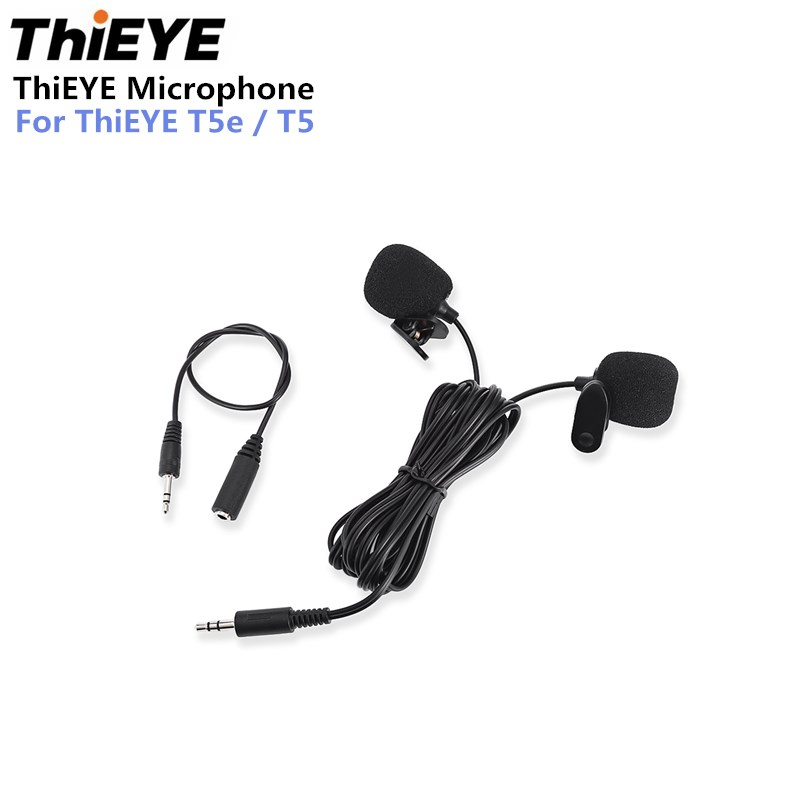 ThiEYE Action camera Microphone Premium Dual-head Lavalier Microphone Professional Lapel Clip-on Omnidirectional Condenser Mic