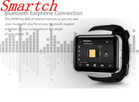 Smartch New Bluetooth Smart Watch DM98 With Camera WCDMA GPS Android 4.4 OS 3G MTK6572 Dual Core 1.2GHz 4GB ROM Smartwatch Phone