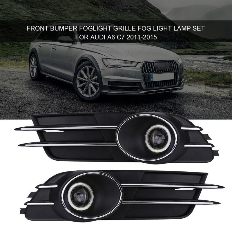 1 Pair Front Kidney Grills For Audi A6 C7 2011 2015 Bumper