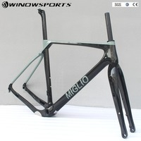 Gravel Frame Bike Aero Road Carbon Frame Disc Brake Tapered Bicycle Frame Thru Axle 142x12mm Di2 Mechanical S M L XL