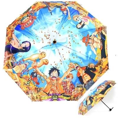 Japanese Anime ONE PIECE Luffy Portgas Ace Trafalgar Law Chopper Umbrella Cosplay Accessories Prop ONE PIECE Umbrellas