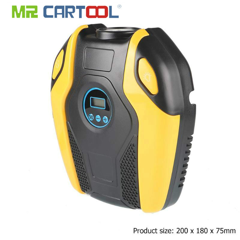 MR CARTOOL Digital Display Portable 12V Car Electric Air Compressor 150PSI Tire Inflator Pump Car Repair Tool Accessories Parts
