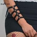 Nueva Jaula Sujetador de moda geométrica sexy negro spandex bang para dama