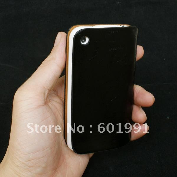 High quality vertical flip Leather skin case for iPhone 3g 3gs free shipping