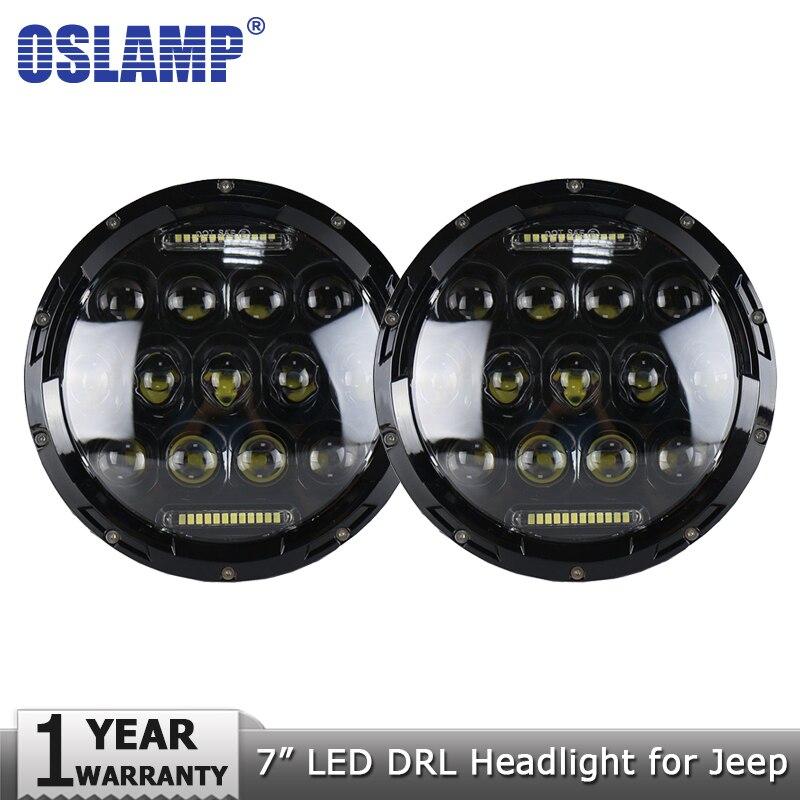 Oslamp 2pcs 7 75W LED Headlight Bulbs Led Driving Light Hi lo H4 H13 Headlights for