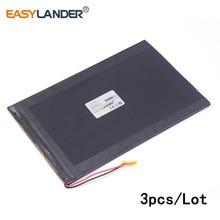 3pcs/Lot 3.7 V 3300 mah 20100150 lithium polymer battery  cool than rubik's tablet For DIY Power mobile Power bank e-book