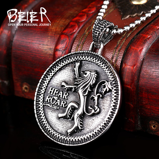 Game Of Thrones Logo Stainless Steel Fashion Necklace