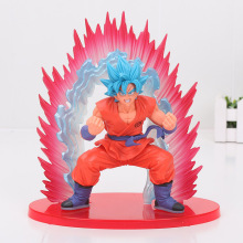 20cm Dragon Ball Z Super Saiyan Blue Son Goku Action Figure Kaiouken Son Goku PVC figure Toy Brinquedos Anime(China)