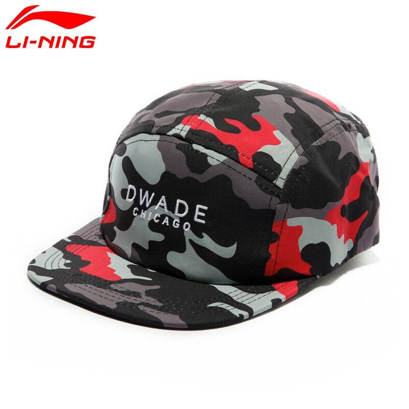 Li-Ning Men's Wade Series Snapback Cap 100% Polyester LiNing Sports Caps AMYM047 EAMJ17