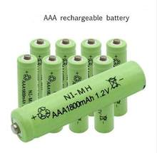 10PCS Dolidada New AAA battery 1800 mAh Rechargeable battery NI-MH 1.2 V AAA battery for Clocks, mice, computers, toys so on(China)