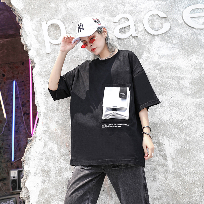 Johnature 2019 Solid Color Patchwork Print Loose Casual Joker Women Tops Women Clothing New O-neck Short Sleeve Simple T-shirts