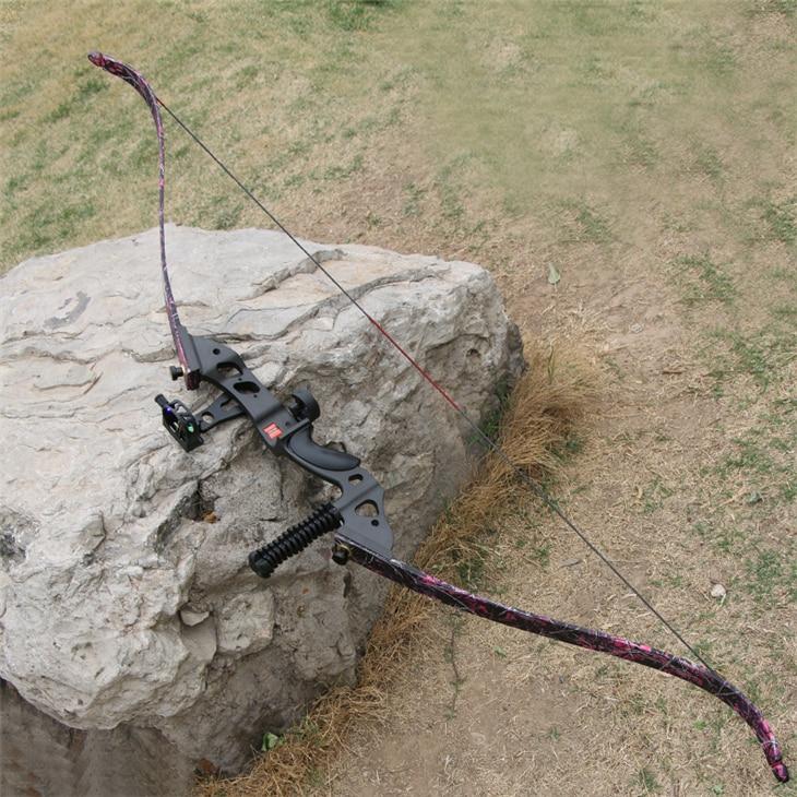1 piece aluminum alloy takedown bow beautiful recurve bow set 45 lbs archery shooting gear cs games 1 piece takedown recurve bow