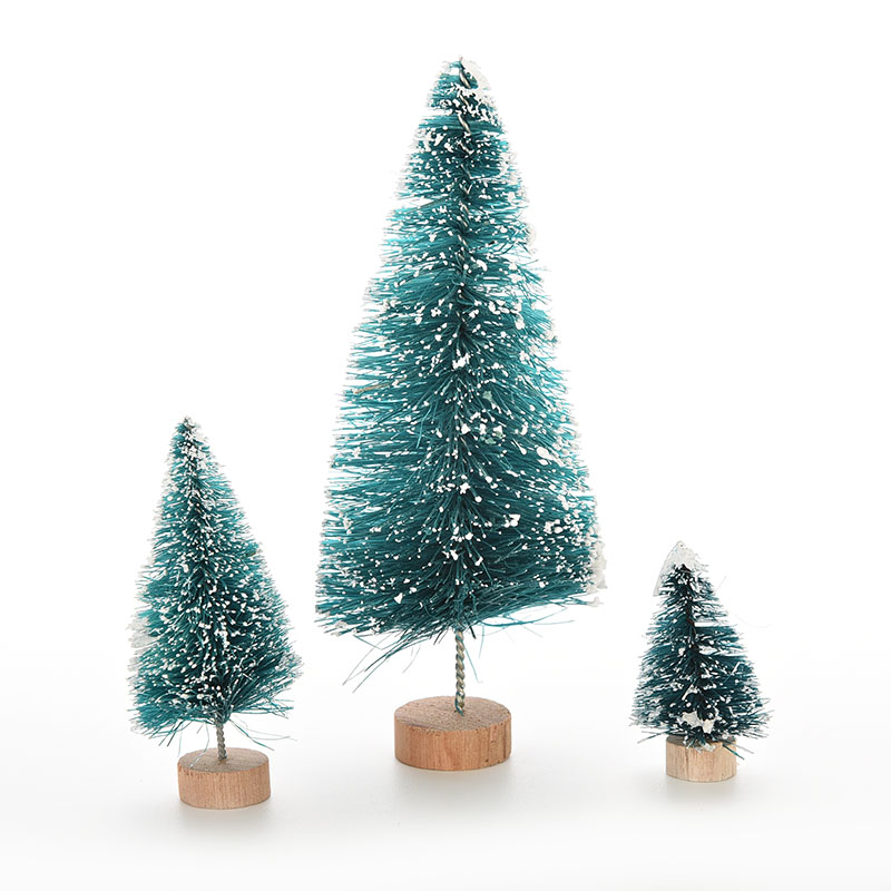 1pc Diy Mini Small Kids Christmas 3 Sizes Plastic Pine Trees Dark Green Desktop Placed Home Decoration Gifts In From Garden On Aliexpress