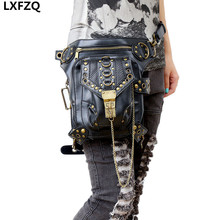 carteras mujer women bag Motor leg Outlaw Pack Thigh Holster Protected Purse Shoulder Backpack Purse thigh bag Steam punk bag
