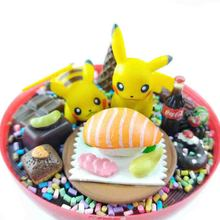 Japanese Hand made DIY Pocket Monster Figures Pokeball Mini Pikachu Sushi Toy Action Figure Christmas Birthday Gift