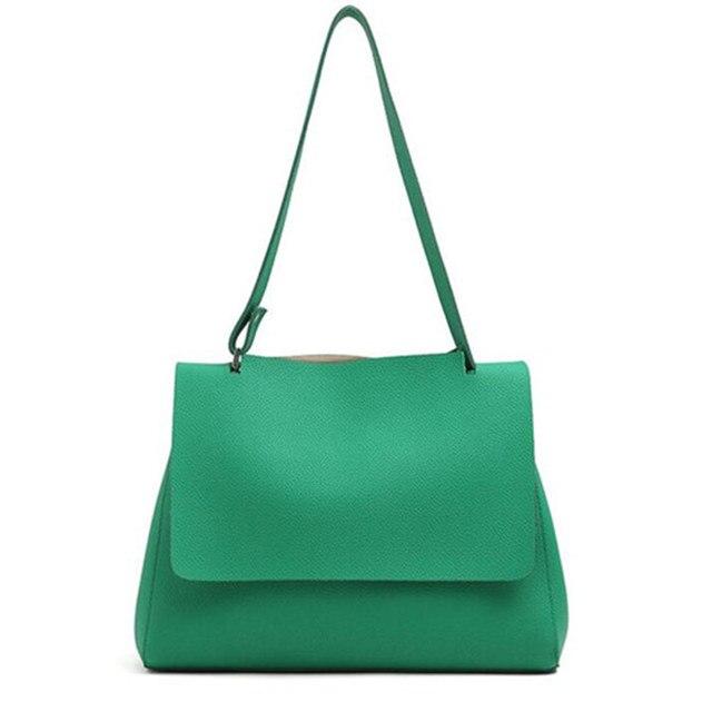 Nueva llegada Simple ocio bolso de las mujeres de moda Cubierta de cuero suave de LA PU de las mujeres bolsa de mensajero del color del caramelo de las mujeres bolsa de hombro