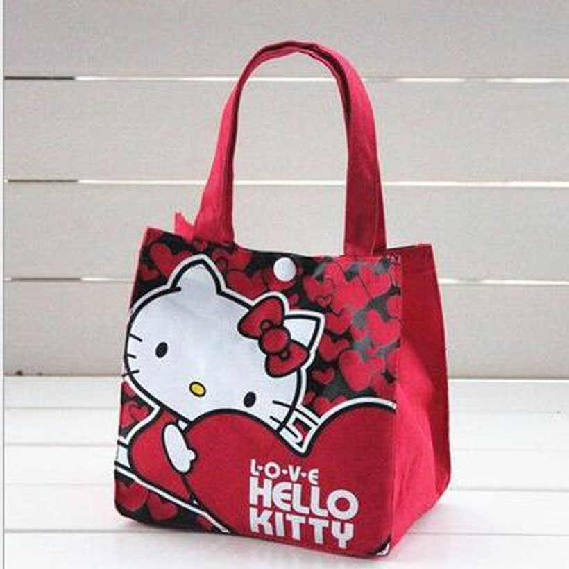 49ce6bf04 ... Fashion Women Handbags cartoon Mickey hello kitty canvas girls casual  shoulder bag Women bag KT shopping