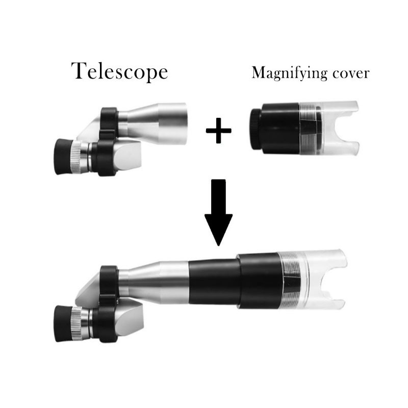 Mini Pocket 8X20 Silver Microscope Telescope+Magnifier=Microscope Monocular Telescope Mini Monocular with Magnifying HoodMini Pocket 8X20 Silver Microscope Telescope+Magnifier=Microscope Monocular Telescope Mini Monocular with Magnifying Hood
