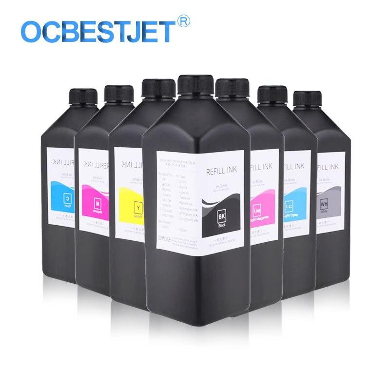 1000 ML/bouteille LED encre UV pour Epson L800 L805 L1800 R290 R330 1390 1400 1500 W 4800 4880 7800 7880 encre UV pour imprimante Epson