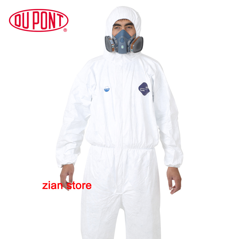1422A Dupont Tyvek Protective Clothing Coverall Disposable Antistatic Chemical Work Clothes Anti-dust Plash