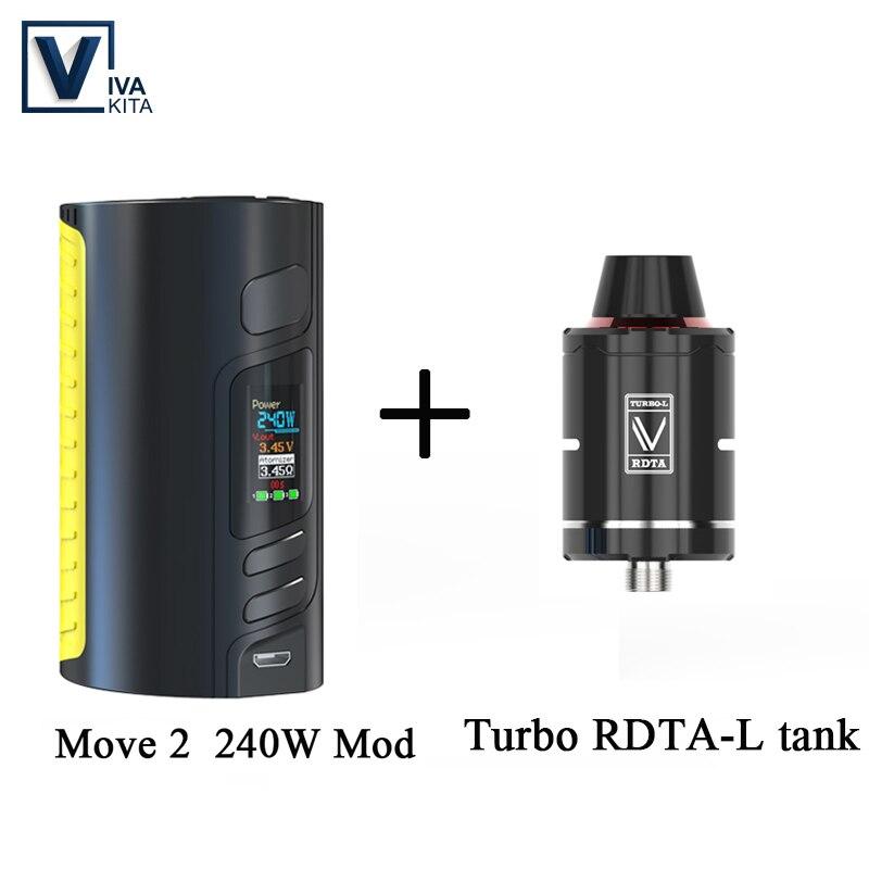 Cadeau réservoir RDA 240 W batterie Mod vape cigarette électronique déplacer 2 240 W boîte Mod soutien 18650 pile Mod pour kit de fil 510