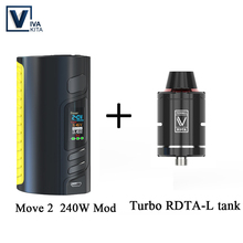 Gift RDA TANK 240W Battery Mod vape Electronic cigarette MOVE 2 240W Box Mod support 18650 battery cell Mod for 510 thread kit цена