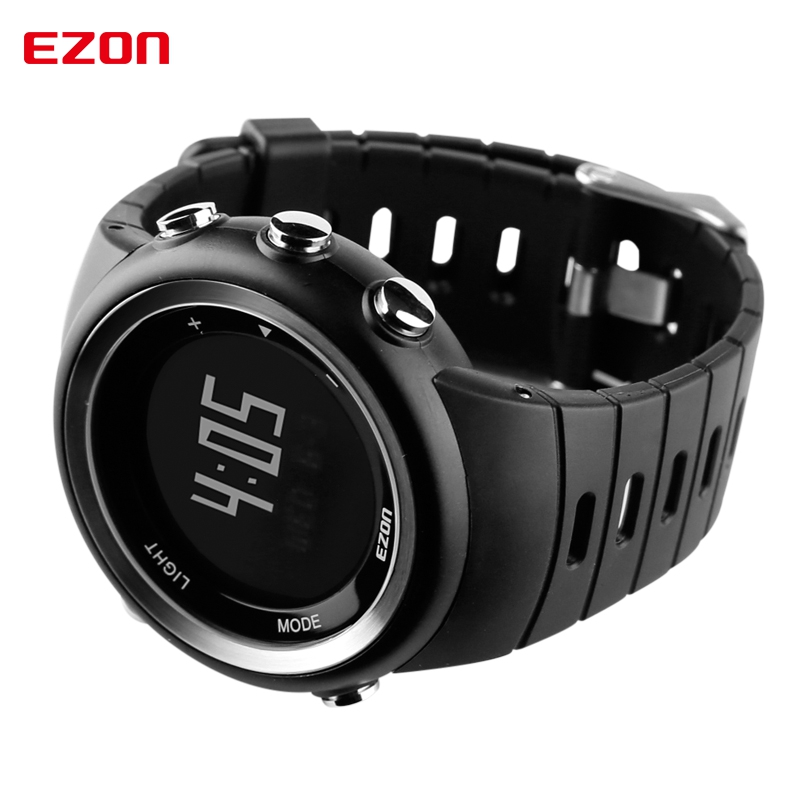 aliexpress com buy ezon pedometer calories monitor men sports aliexpress com buy ezon pedometer calories monitor men sports watches waterproof 50m digital watch running swimming diving wristwatch montre homme from