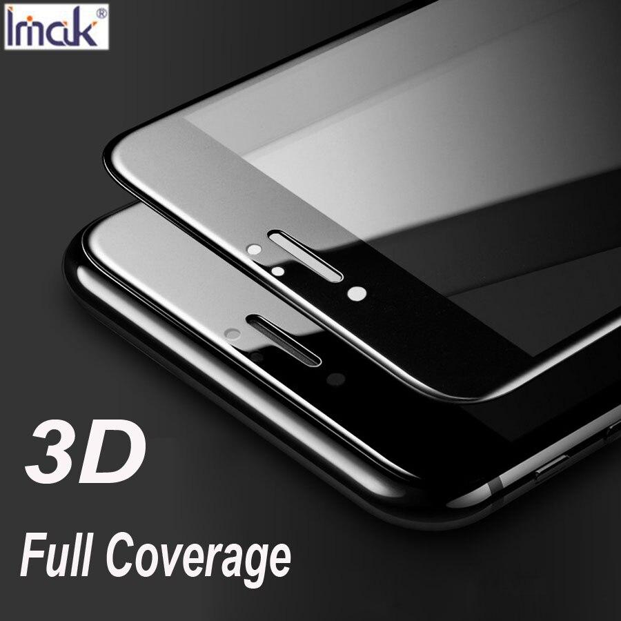 Imak 3D Bord Incurvé En Verre Trempé pour iPhone 7/7 plus Pleine Couverture De Protection D'origine Écran Premium Film de Protection Safe Case
