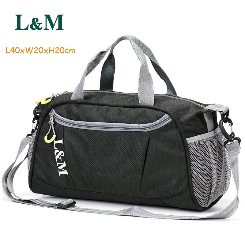 L M Professional Sports Gym Duffle Bag Women Men For Fitness Training Shoulder Handbags Yoga Light And Durable Luggage In Bags From