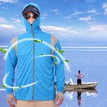Уличная Рыбалка рубашки с длинным рукавом, солнце УФ защитная Солнцезащитная одежда толстовка BB55