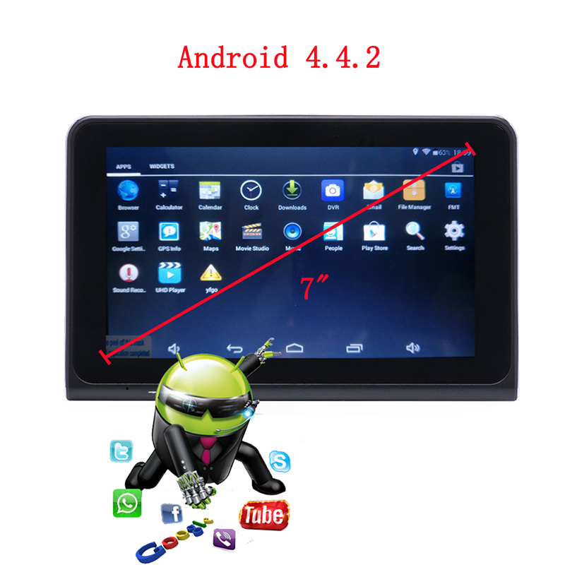 Car DVR Gps-Navigation-Radar-Detector Video-Recorder Dash-Camera WIFI Tablet Touch-Screen