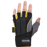 Khuiten High Quality EVA Fitness Sports Gym Gloves Mitts Thicken Protection Durable Non Slip With 30