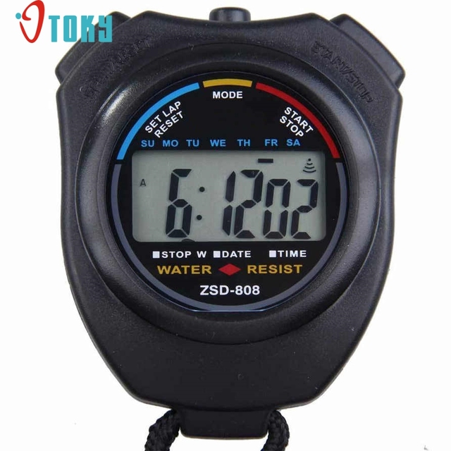 OTOKY Hot Digital Única Mão Profissional realizada LCD Chronograph Sports  Cronômetro Stop Watch Drop ship F49 e130edb374858