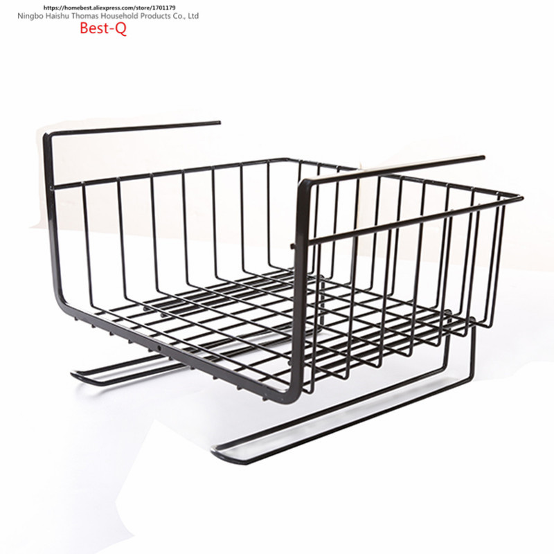 Image 5 - Free shipping closet shelf storage rack layered storage rack hanging basket shelf rack dormitory kitchen cabinets storage rack-in Storage Holders & Racks from Home & Garden