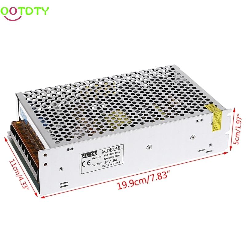 AC 100-260V To DC 48V 5A 240W Switch Power Supply Driver Adapter LED Strip Light  828 Promotion 4pcs 12v 1a cctv system power dc switch power supply adapter for cctv system