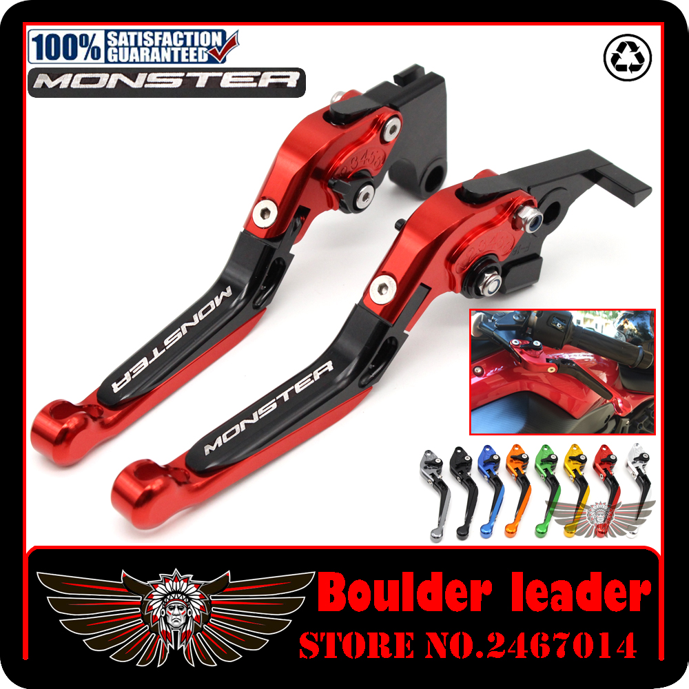 for Ducati monster 821 2014-2015 accessories Motorcycle cnc adjustable Foldable Lengthening brake clutch levers cnc foldable