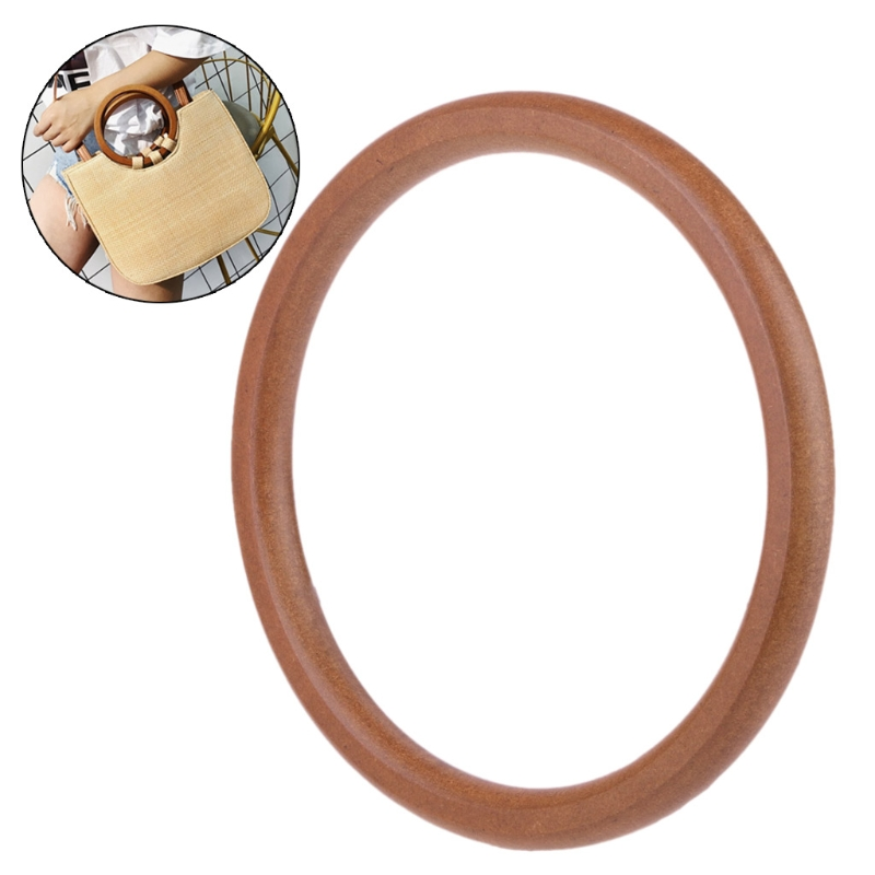 Wooden Round Shaped Handles Handbag Hanger Replacement For Bag Handbags Purse Shopping Tote DIY Purse Bag Accessories New