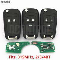 QCONTROL Car Remote Key Fit For Chevrolet Malibu Orlando Cruze Aveo Spark Sail 2 3 4